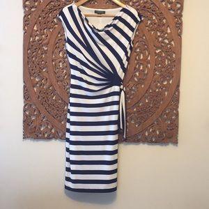 Dresses & Skirts - Ralph Lauren navy striped dress NWOT